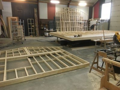 Bouwplaats FlevoHome - chalet in aanbouw