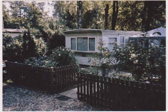 oude foto caravan