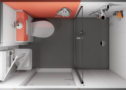 Voorbeeld sanitair unit bovenzijde