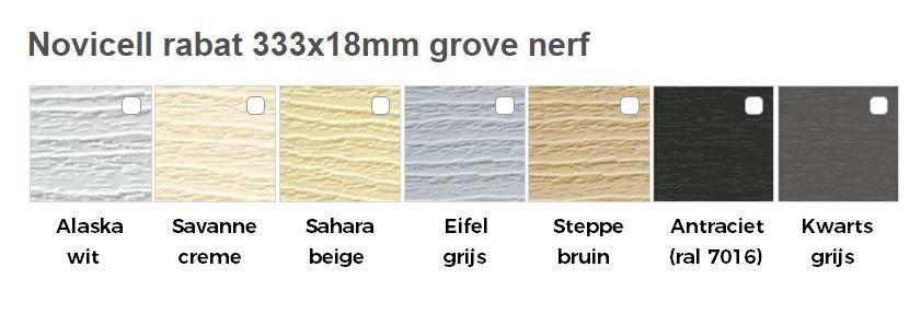 Novicell rabat kleuren